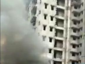 A chartered passenger jet belonging to India's Uttar Pradesh state government has crashed in a busy district of  Mumbai