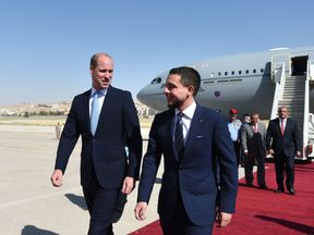 The Duke of Cambridge with the Crown Prince of Jordan in Amman