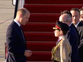 Prince William arriving in Tel Aviv