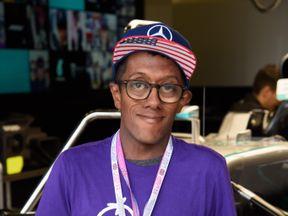 F1 fan Tarun on a GOSH patient tour of the British Grand Prix