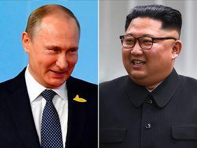 Vladimir Putin and Kim Jong-un