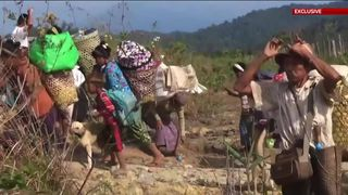 Sky News has uncovered evidence the Burmese military is targeting the mainly Christian Kachin people