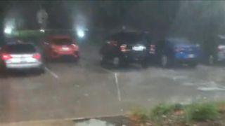 Huge hailstones fall in Dallas