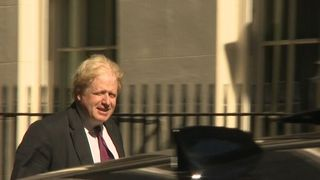 Foreign Secretary Boris Johnson enters Number 10 after having missed a crucial vote on Heathrow's third runway