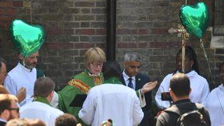 Sadiq Khan and the Rt Rev Dame Sarah Mullally unveil the Memorial Garden