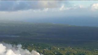 Lava flows into the sea off Hawaii's Big Island