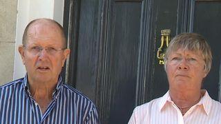 Tim Barton read a statement on behalf of his wife, Jane