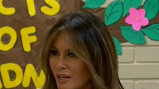 Melania Trump is visiting two Texas facilities housing some of the more than 2,300 migrant children sent by the U.S. government after their families entered the country illegally.