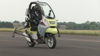 Sky News' Thomas Moore tested out one of the first autonomous motorcycles.