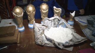The gang used replica trophies to haul the drugs