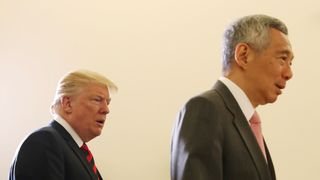 U.S. President Donald Trump and Singapore's Prime Minister Lee Hsien Loong