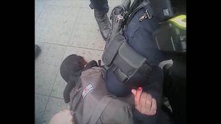 Body-worn camera footage has shown the moment Khalid Ali was taken down by armed police near Parliament. Pic: Met Police