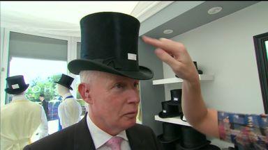 Wearing a £4,000 Ascot hat!
