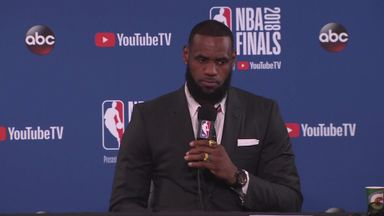 LeBron rues foul call in NBA Finals