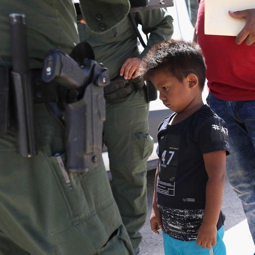 Donald Trump's migrant border row explained