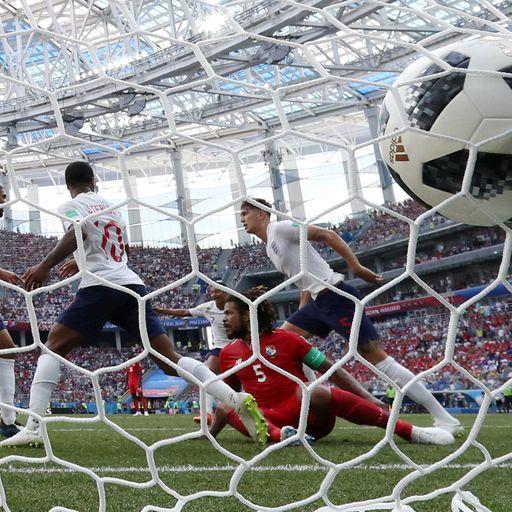 England beat Panama 6-1