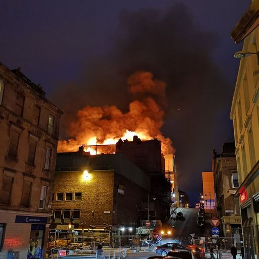 Inferno 'consumes' iconic Glasgow building