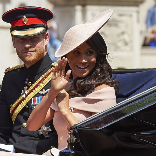 Meghan makes balcony debut at Trooping the Colour