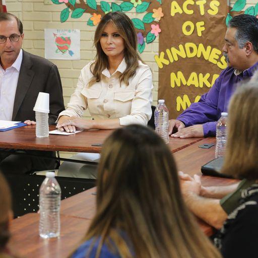 Melania Trump visits child migrant detention centre