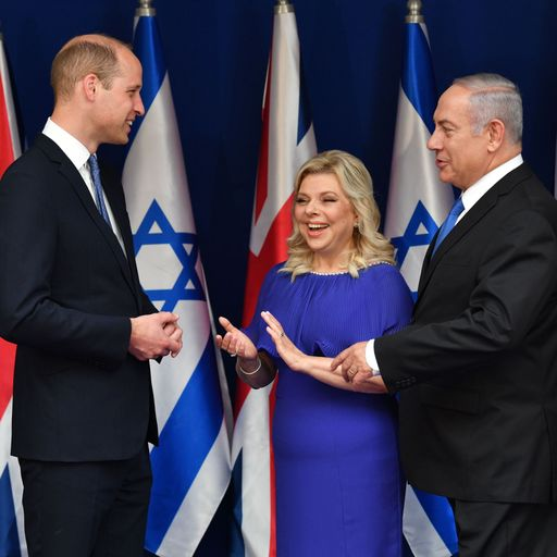 Israel president asks Prince William to take 'message of peace' to Palestinians