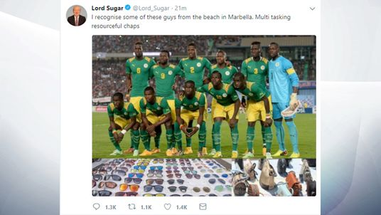 Alan Sugar's tweet