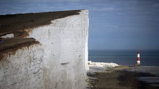 A mother and son were found dead at the base of Beachy Head cliffs