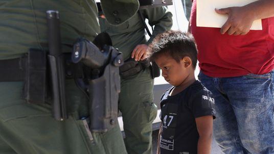A boy from Honduras is taken into custody