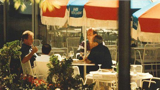 From left, Francis Salemme, Stephen Flemmi, Francis Salemme Jr and Luigi Manocchio captured in a surveillance photo