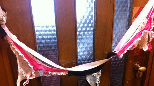 Tory MP Sir Christopher Chope's office targeted by a knicker protest. Pic: @CaroloineLucas