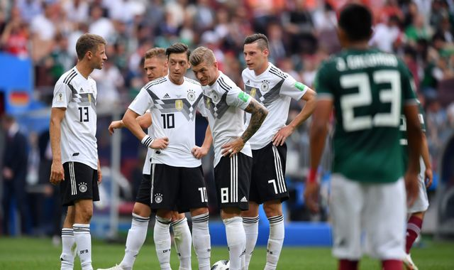 World Cup 2018: Defending champions Germany beaten by Mexico in opening match in Russia