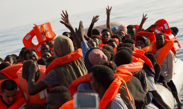 Survivors fear more than 100 migrants may be dead after dinghy capsizes off Libya