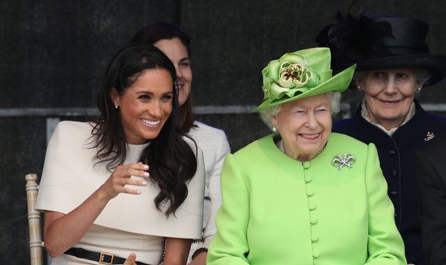 Queen 'particularly proud' of Meghan as she singles out duchess for praise amid Sussexes' exit