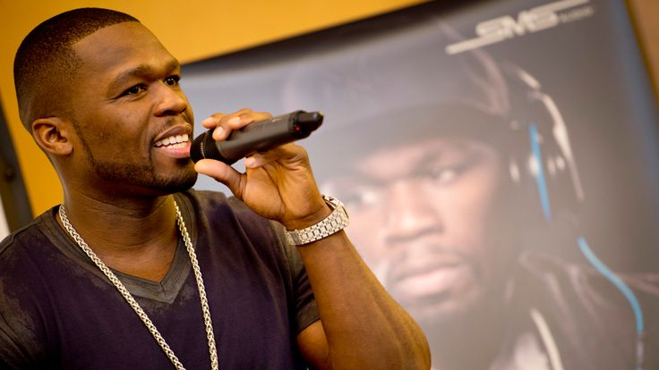 US rapper Curtis '50cent' Jackson speaks at the launch of his headphone range from SMS audio at the 52nd edition of the 'IFA' trade fair in Berlin on August 30, 2012. IFA, the world's largest consumer electronics and home appliances fair opens to the public from August 31st to September 5, 2012.AFP PHOTO / ODD ANDERSEN (Photo credit should read ODD ANDERSEN/AFP/GettyImages)