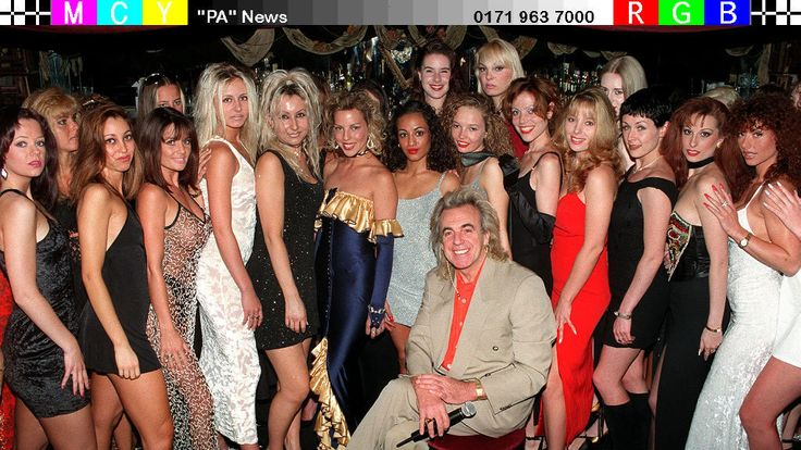 Peter Stringfellow auditioning women for his tableside dancing club in 1996