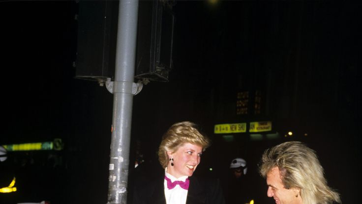 Princess Diana and Peter Stringfellow arriving at the Hippodrome Nightclub in London, 1987. Pic: REX/Shutterstock
