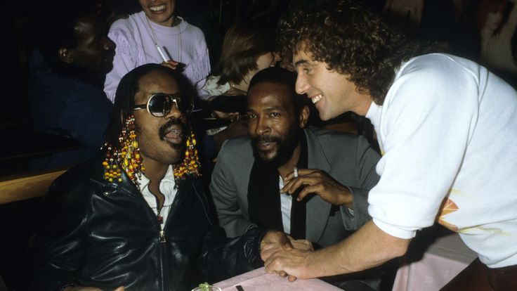 Stevie Wonder & Marvin Gaye Talk to Peter Stringfellow at Stringfellows where they performed a late night set finishing at 5am, 1981