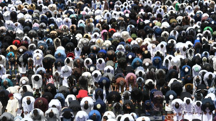 During Ramadan, Muslims fast from sunrise to sunset