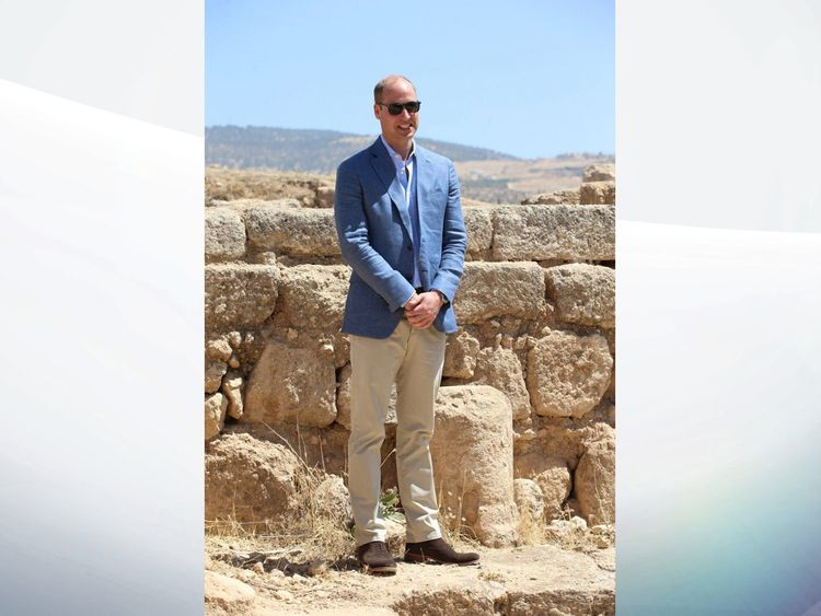 Britain's Prince William enters occupied West Bank to meet Palestinian president