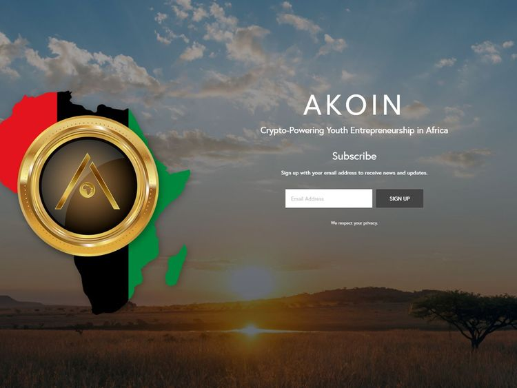 AKoin already has an official website