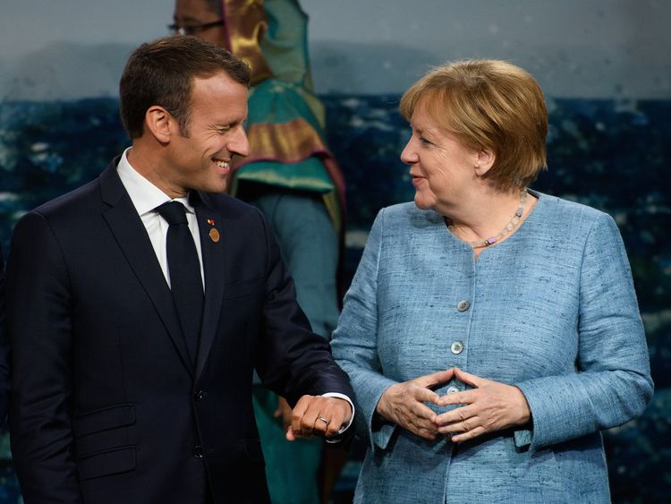 Mrs Merkel is hoping French president Emmanuel Macron will agree to a joint migrant proposal