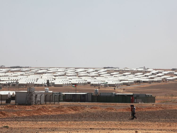 Less than 20% of Syrians in Jordan live in camps like Azraq