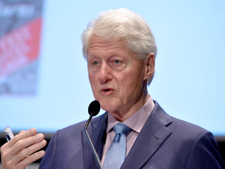 Bill Clinton speaks onstage during the Fifth Annual Town & Country Philanthropy Summit on May 9, 2018 in New York City.
