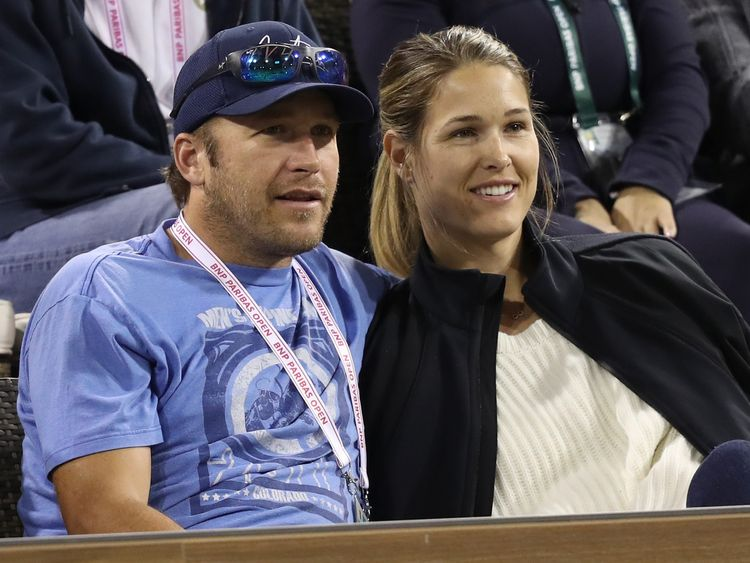 Bode Miller with his wife Morgan
