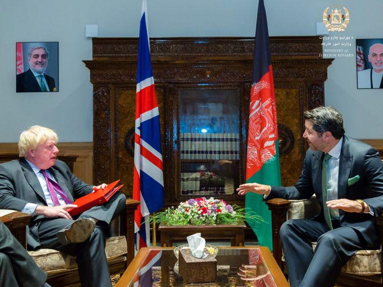 Johnson in Afghanistan ahead of crunch Heathrow vote