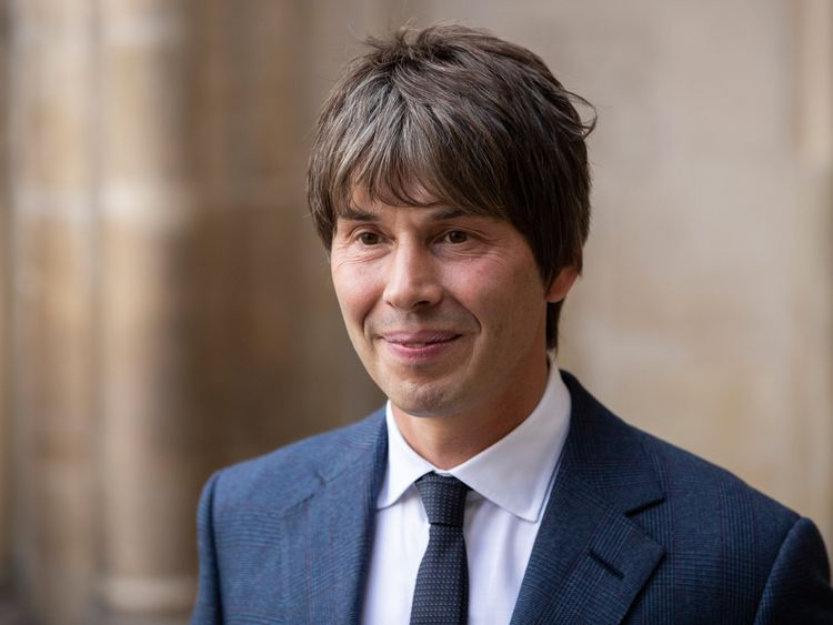 Physicist Brian Cox came to pay his respects