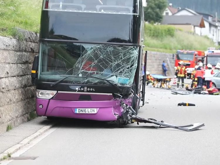 One of the bus drivers suffered serious injuries