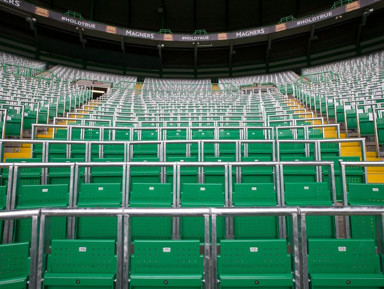 Celtic's new safe standing area