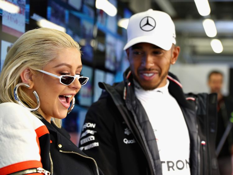 Lewis Hamilton is secret singer on new Aguilera track