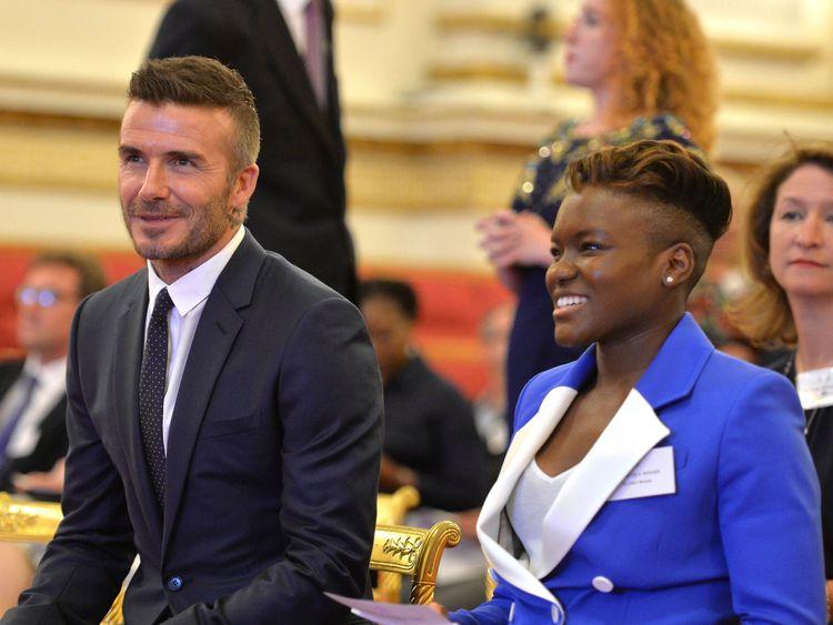 David Beckham and Nicola Adams
