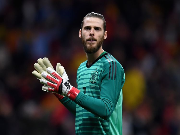 David de Gea plays as a goalkeeper for the Spain national team